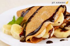 Banana Crepes with Chocolate Syrup Kids Cooking Recipes, Lunch Recipes, Kids Meals, Healthy Pancake Syrup, Banana Crepes, Food Porn, Crepe Cake, Crepe Recipes, Inexpensive Meals