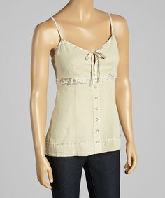Another great find on #zulily! Creme Tie Tank #zulilyfinds