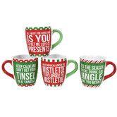Found it at Wayfair - Christmas Morning 4 Piece Christmas Sayings Jumbo 24 Oz. Mug Set