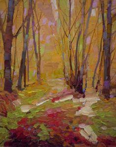 "Saatchi Art Artist Vahe Yeremyan; Painting, ""Autumn Trees Oil painting Original Handmade Artwork One of a kind"" #art"
