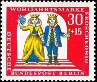 The Frog Prince German Stamp