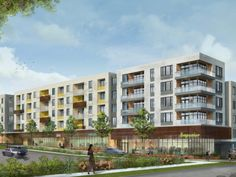 The transformation of Highland Mall continues with plans for a new mixed-use development. RedLeaf Properties announced Tuesday that it has teamed u Building Facade, Building Design, Hillside Apartments, Austin Community College, Apartment Floor Plans, Apartment Complexes, Social Housing, Commercial Interiors, Home Projects