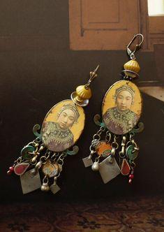 Boucles d'oreilles ethniques de style Mongol Bijoux | Etsy Ear Jewelry, Fine Jewelry, Tribal Jewelry, Long Tassel Earrings, Women's Earrings, Handmade Beaded Jewelry, Earrings Handmade, Tribal Looks, Birthday Gifts For Her