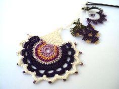 crochet necklace yellow carnation by PashaBodrum on Etsy Yellow Carnations, Crochet Accessories, Crochet Flowers, Handicraft, Hair Pins, Needlework, Diy And Crafts, Knit Crochet, Crochet Necklace