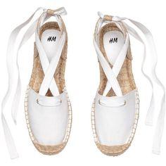 Espadrilles with lacing Lace Up Espadrille Sandals, Ankle Tie Espadrilles, Ankle Strap Flats, Ankle Wrap Sandals, White Sandals, Shoes Sandals, Strap Sandals, Flat Lace Up Shoes, Lace Flats