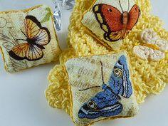 Butterfly Pillow Throw Pillow Miniature by TheLittleEmptyNest
