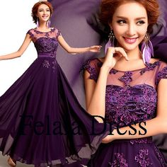 Hey, I found this really awesome Etsy listing at https://www.etsy.com/listing/185036228/purple-prom-dress-lace-prom-dress-2014