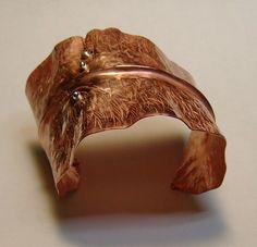 copper leaf cuff-sold