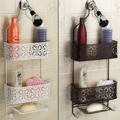 Plated Steel Lace Hanging Shower Caddy $29