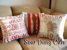Sew Dang Cute Crafts: Tutorial: {PB Burlap Cafe Pillows}