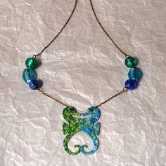 Nuevo #collar #hipocampos de inspiración #mediterránea. #barcelonainspira #barcelona #handmade #gift