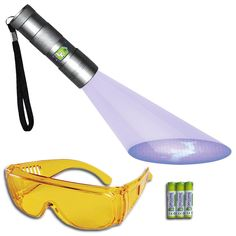 Doggone Pet Products® Black Light UV Flashlight Pet Urine Detector - Light Finds Dry Dog and Cat Stains on Carpets, Hard Floors and Paint. Alkaline Batteries Included With 12 LED Ultra Violet Blacklight * You can get more details by clicking on the image.