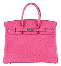 Hermes Cyclamen Ostrich Birkin Bag. This is the one Rory got on Gilmore Girls. A girl can dream