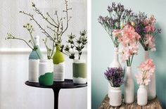 Botellas pintadas, un proyecto DIY para decorar tu mesa