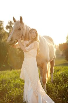 The Princess Bride Inspired Wedding - love the horse and golden light.