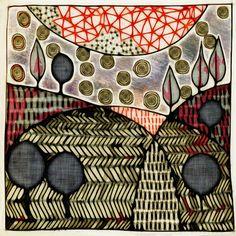 Michèle Brown Artist - The Old Cells Studio: Morning landscape