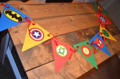 Superhero banner available at https://www.facebook.com/ajs.craft.creations