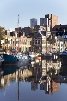 canals in the city of Groningen