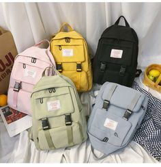 Pastel Laptop Backpack - Shipping Worldwide, Off Just Today, Refund Money Fully, Guarantee, Buy it now online from wowelo Pastel Backpack, Cute School Bags, Aesthetic Backpack, Bag Women, Camo Purse, Leather Briefcase, Leather Bags, Leather Backpacks, Pink Leather