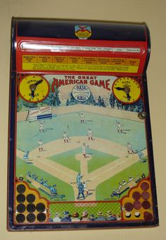Antique Baseball Game By Hustler Toy Tin Lithography