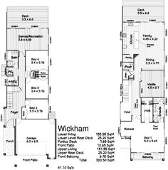 98 Best Narrow House Plans images | Floor plans, House floor plans Home Plans For Small Lots on plans for construction, plans for education, plans for houses, plans for garages, plans for townhouses, tips for small homes, organization for small homes, ideas for small homes, plans for bikes, designs for small homes,