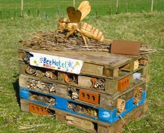 bee hotels provide a great nesting place for solitary bees