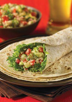 Quinoa Tabbouleh Wraps.