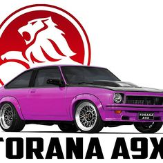 Holden Torana - Hatchback - Red Visit the site to buy this item on a variety of merchandise. Australian Muscle Cars, Aussie Muscle Cars, Sexy Cars, Hot Cars, Holden Muscle Cars, Holden Torana, Holden Australia, Car Prints, Big Girl Toys