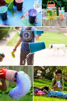 Backyard Boredom Busters to get kids moving, exploring and creating outside.