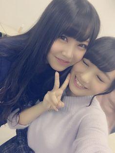 #Google+ Mukaichi Mion (向井地美音) & Shiroma Miru (白間美瑠) #gravure #AKB48 #NMB48 #mukaichi Mion #Team4 #jpop #idol #Selfie