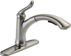 Delta 4353-SS-DST Linden Single Handle Pull-Out Kitchen Faucet, Stainless DELTA FAUCET,http://www.amazon.com/dp/B003H4B9CY/ref=cm_sw_r_pi_dp_Nomotb0DFMJWXCDF