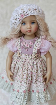#dress_for_doll #Littledarlingdoll #dollclothes #outfit_for_doll #dollcollector #little_darling #diannaeffner #magaliedawson #sundress #shoesfordoll #dresswithembroidery Beautiful Little Girls, Beautiful Dolls, Birthday Week, Pink Doll, Anime Girl Cute, Pretty Dolls, Collector Dolls, Baby Crafts, Little Darlings