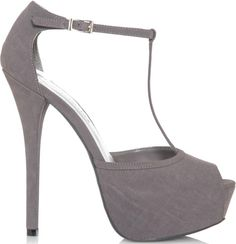 JustFab Grey Sanaya T-Strap Sandal $54.99 #shoes #heels - CLICK HERE for more: http://www.needcuteshoes.com/products/justfab-grey-sanaya-t-strap-sandal/