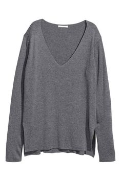Cienki sweter - Ciemnoszary - ONA | H&M PL