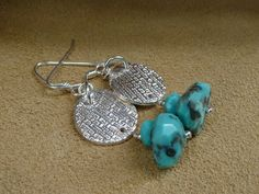 MacDesigns  PMC Turquoise Earrings by macdesignsgallery on Etsy, $110.00