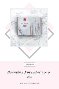 """Ich zeige euch den Inhalt der Bipa Bonusbox vom November 2020, die unter dem Motto """"Alles für Ihr Lächeln"""" steht und viele Pröbchen aus der Kategorie Zahnpflege enthält. November, Motto, Box, Magazine Rack, Storage, Home Decor, Dental Health, November Born, Purse Storage"""