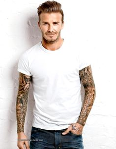 Love Beckham and love those tattoo sleeves : )