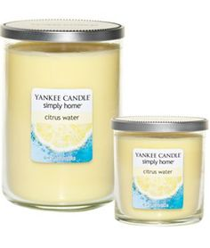 Yankee Candle simply home Citrus Water Jar Candles