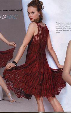 As Receitas de Crochê: Vestido de festa em crochê