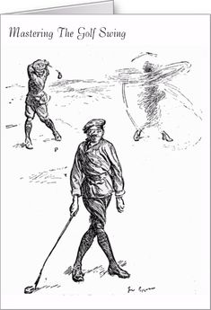 Mastering The Golf Swing - Greeting Card. http://www.zazzle.com/mastering_the_golf_swing_greeting_card-137282876610880502 #golf #card #humor #sport #humour