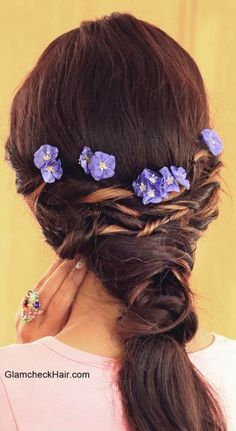 Fairytale Hairstyle Formal Hairstyles, Ponytail Hairstyles, Flower Hairstyles, Flowers In Hair, Fairytale, Bobby Pins, Romantic, Hair Styles, Wordpress