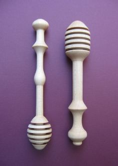 Woodturned honey dippers in Maple. Dipper, Handmade Items, Honey, How To Make