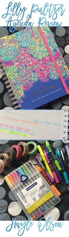 Learn more about Lilly Pulitzer Agendas. I share my personal thoughts as I review the 2015-2016 Agendas! Click to read more, or pin to read later :) Find my blog at www.hayleolson.com