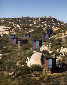 Hotel by Mexican architectsGracia Studiocomprises 20 separate cabins dotted across the landscape in one of Mexico's wine-making regions