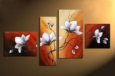 4pcs abstract oil painting ,for hall.