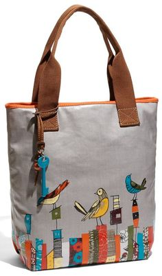 Fossil 'Key-Per' Printed Coated Canvas Tote