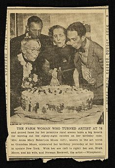 Citation: The Farm Woman Who Turned Artist At 76..., 1948 . Frances and Mary Virginia Greer papers related to Grandma Moses, Archives of American Art, Smithsonian Institution.