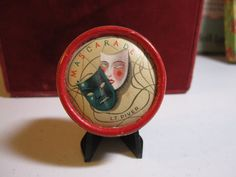 Art Deco 1920's art deco french paper rouge box by puffadonna