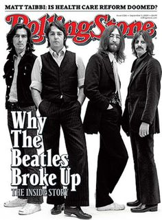 The Beatles on the cover of Rolling Stone magazine (famous rolling stone magazine covers)