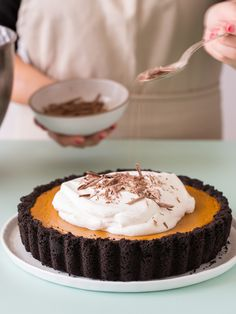Pumpkin Pie with Chocolate Crust / Spoon Fork Bacon